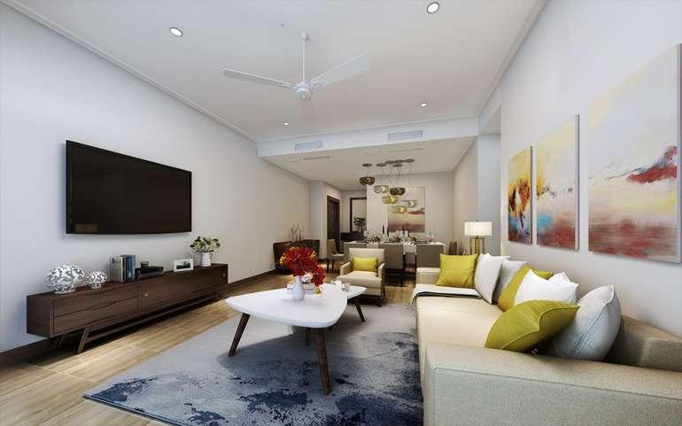 2-BEDROOM APARTMENT LIVINGROOM