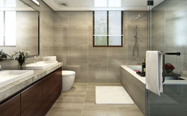 LUXURIOUS 3-BEDROOM APARTMENT BATHROOM