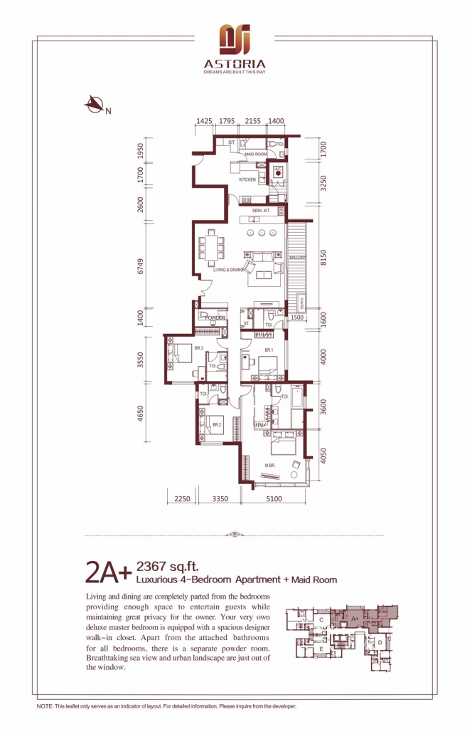 2A+ Luxurious 4 Bedroom Apartment at Astoria