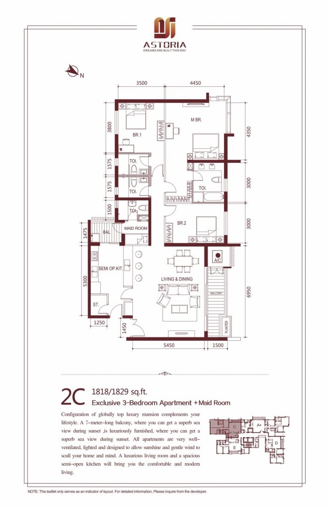 2C - Exclusive 3 Bedroom Apartment at Astoria