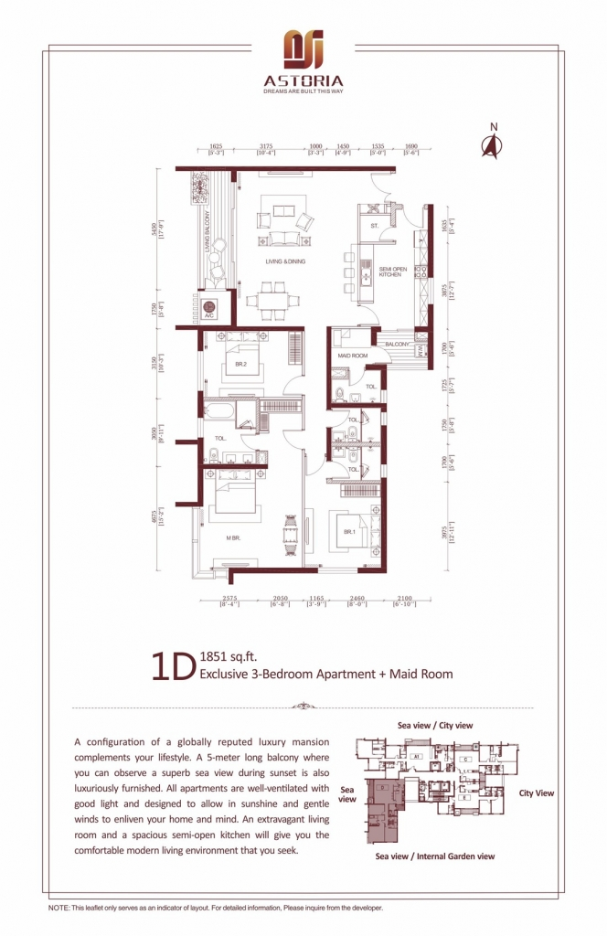 1D Exclusive 3 Bedroom Apartment at Astoria Colombo